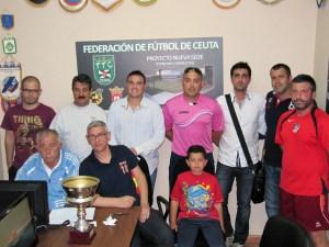 El sorteo se ha llevado a cabo en la sede de la Federación de Fútbol de Ceuta