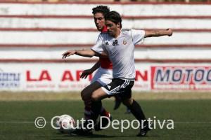 Villatoro, durante el partido del pasado domingo ante el Racing Portuense