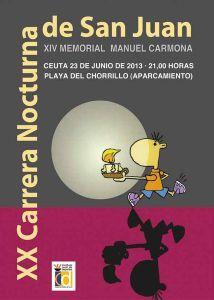 Cartel anunciador de la XX Carrera Nocturna de San Juan de Ceuta