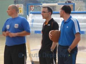 Hugo López (el primero por la derecha) detalló la preparación del Real Madrid en la última 'final a cuatro' de la Euroliga