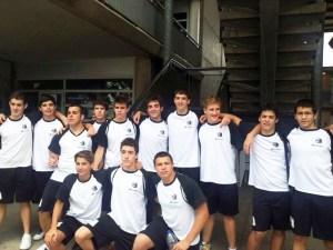 En la imagen, los jugadores cadetes del CN Caballa que se han desplazado a Valencia