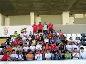 Alumnos y monitores, esta tarde en el estadio Alfonso Murube