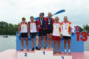 Peña y Máximo Vela, en el tercer cajón del podio del Europeo de Portugal
