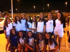 Conjunto femenino cadete del CN Caballa que ha participado en el Nacional en Sabadell