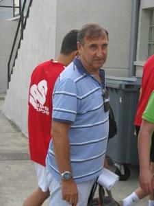 José Antonio Asián a su llegada al estadio Alfonso Murube