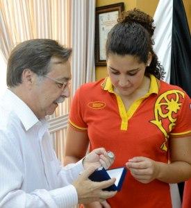 Vivas recibió a Lorena el año pasado tras conseguir la selección española la plata en los Juegos de Londres