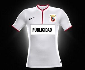 Así será la camiseta de la Agrupación Deportiva Ceuta FC, pero con ribetes negros