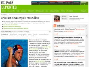 Reproducción del átículo publicado en el diario 'El Pais'
