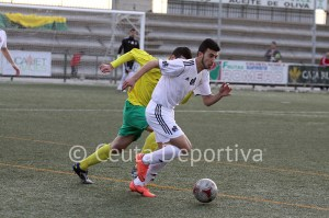 Ismael, en el partido Los Barrios - Atlético de Ceuta de la pasada Liga
