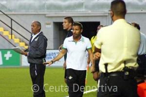Óscar Cano, instantes después de que el Betis B hiciera el 0-1 a la postre definitivo