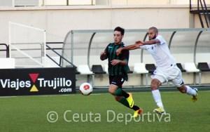 La AD Ceuta FC batalló ante el Betis B, pero no pudo evitar la derrota ante un rival superior