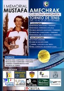 Reproducción del cartel anunciador del I Memorial Mustafa Amechrak de tenis