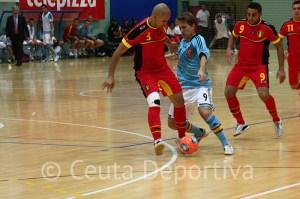 El jugador del Burela Matamoros marcó el segundo gol de España
