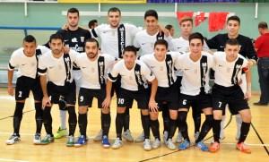 Formación de la UA Ceutí FS en el partido del pasado sábado ante el Sinapsis de Luque