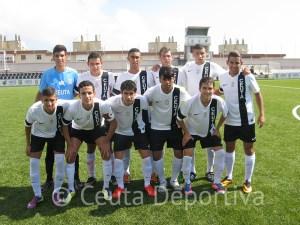 Formación del Ceutí de Liga Nacional Juvenil que se enfrentó al Córdoba CF en el Alfonso Murube