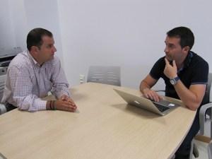 Un momento de la reunión entre Sergio Ramos y Antonio García Guzmán