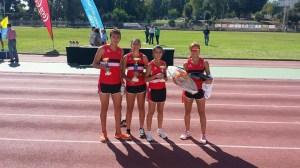 Los atletas ceutíes, con los trofeos conquistados en Algeciras