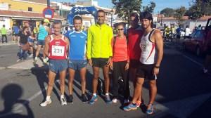 Los atletas ceutíes, a la conclusión de la prueba en Los Barrios