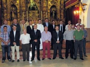 Directivos y empleados de la FFC, ante la Patrona de la Ciudad