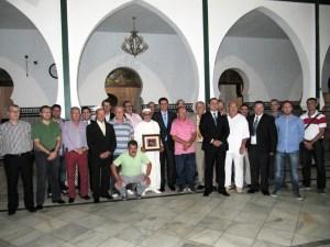 La representación de la Federación, en la Mezquita de Mulay Medhi