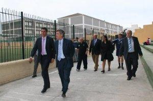 El presidente de la RFEF, en el José Benoliel en una de sus visitas a Ceuta