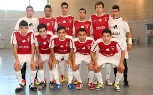 Formación del Ciudad de Ceuta en el partido de su debut en Cádiz