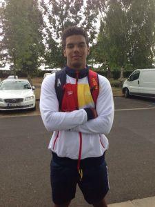 El jugador ceutí se incorporó a su nuevo club tras disputar el Mundial junior de Hungría en el que España acabó sexta