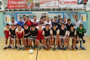 La selección sub'19 disputó este miércoles un amistoso con el Ceutí en el 'Guillermo Molina'