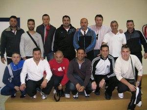 Algunos de los jugadores veteranos que van a participar en el partido solidario de mañana