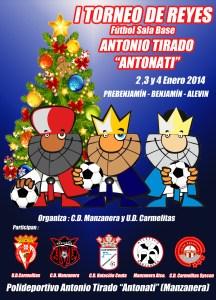 Cartel del I Torneo de Reyes de fútbol sala base Antonio Tirado 'Antonati'