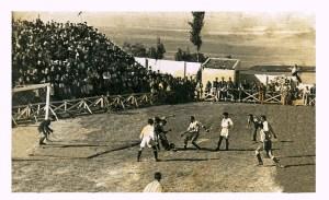 Una imagen de un partido en el Alfonso Murube en los años 50
