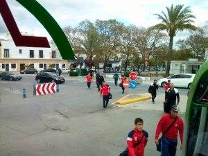 La expedición del Ceutí tuvo que abandonar el campo de La Palma escoltado por la Guardia Civil