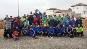Foto de familia de todos los participantes en el torneo benéfico del CP General Carvajal