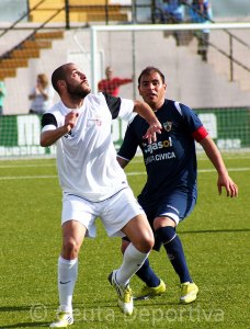 Antonio Prieto, durante el partido del pasado domingo ante el Pozoblanco