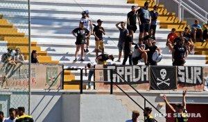 Aficionados de la AD Ceuta FC en el Alfonso Murube