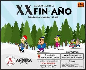 Cartel anunciador de la marcha Fin de Año de Anyera