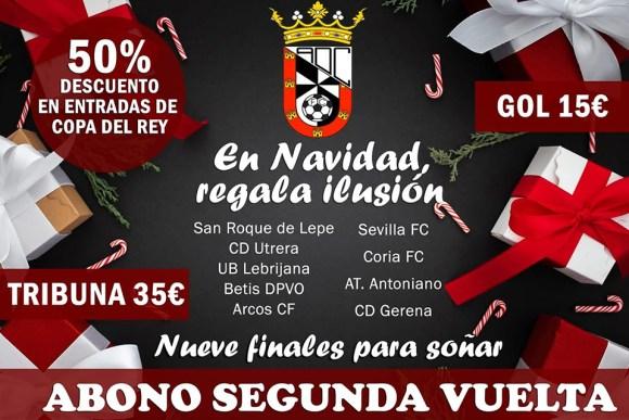Cartel anunciador de la campaña de abonos del Ceuta para la segunda vueñta