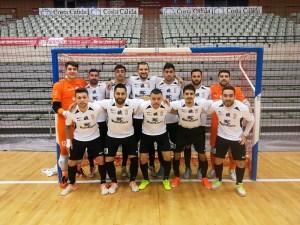 Formación de la UA Ceutí FS, este sábado en el Palacio de Deportes de Murcia