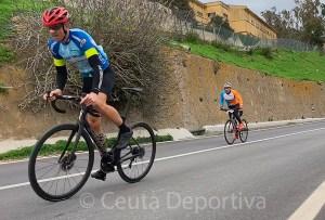 Imagen de la cronoescalada celebrada el pasado 29 de diciembre en Ceuta