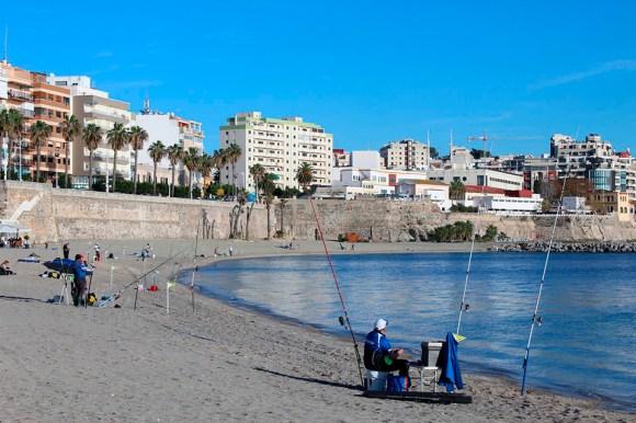 La playa del Chorrillo fue uno de los escenarios de la prueba