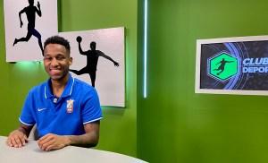 El brasileño Everton Ferreira, el pasado lunes en el plató de Club Deportivo', el programa de RTVCE