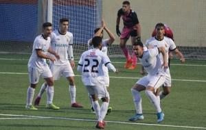 Jugadores de la AD Ceuta FC celebran un gol en un partido de la última temporada
