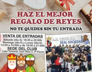 Regalar entradas para la Copa, la propuesta de la AD Ceuta Fc para los Reyes