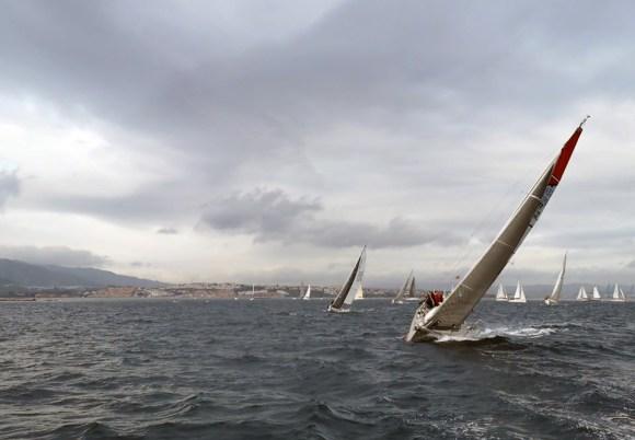 Un momento de la primera regata del X Campeonato Interclubes del Estrecho