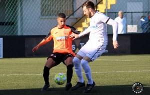 David Castro, durante el partido ante la UB Lebrijana
