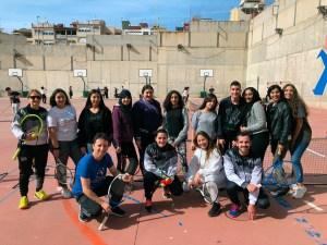 Los alumnos del IES Clara Campoamor han disfrutado del tenis