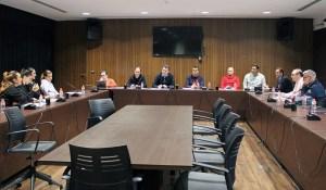 Un momento de la reunión mantenida este lunes en la sede federativa / Foto: FFCE