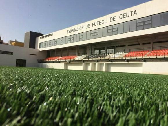Imagen de la 'Ciudad del Fútbol de Ceuta', actual sede de la FFCE