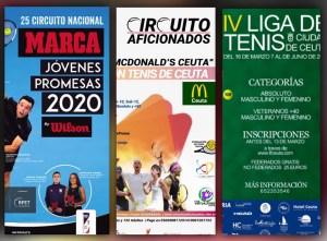 Carteles de los tres torneos aplazados por la FTC