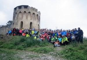 Imagen de los participantes en una edición anterior de la Vuelta a Ceuta organizada por Anyera
